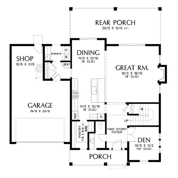 Dream House Plan - Contemporary Floor Plan - Main Floor Plan #48-986