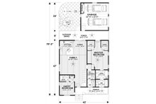 Craftsman Floor Plan - Main Floor Plan Plan #56-720