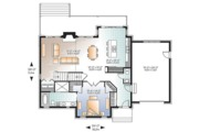 Country Style House Plan - 3 Beds 2.5 Baths 1886 Sq/Ft Plan #23-2562 Floor Plan - Main Floor