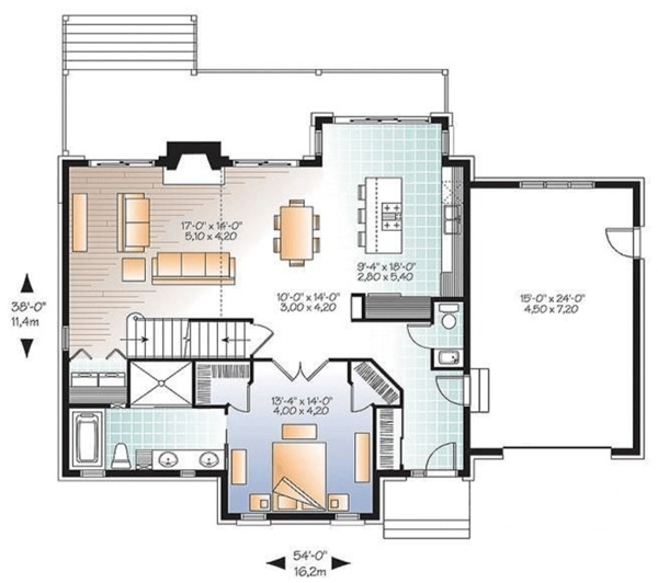Country Floor Plan - Main Floor Plan Plan #23-2562