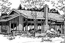 Ranch Exterior - Rear Elevation Plan #320-387