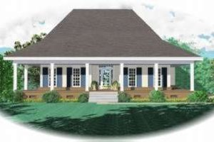 Farmhouse Exterior - Front Elevation Plan #81-1052