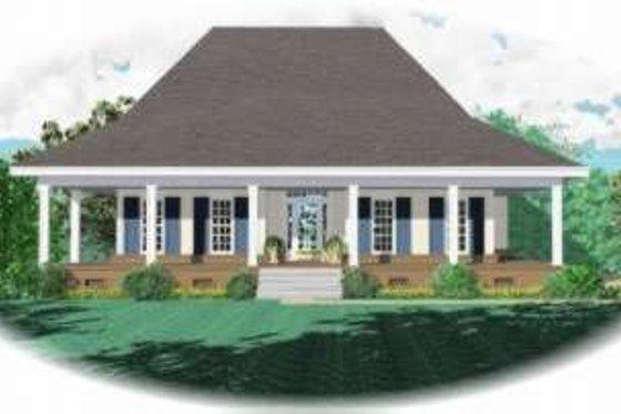Farmhouse Exterior - Front Elevation Plan #81-1052