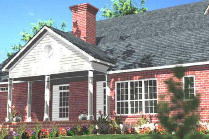 Southern Exterior - Rear Elevation Plan #406-275 - Houseplans.com