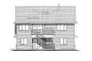 Traditional Style House Plan - 3 Beds 2 Baths 1522 Sq/Ft Plan #18-273 Exterior - Rear Elevation