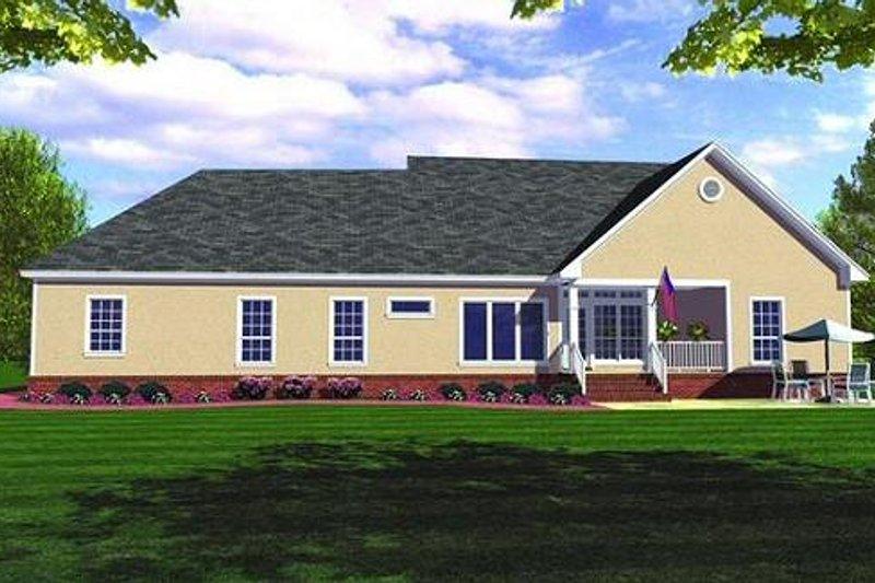 Farmhouse Exterior - Rear Elevation Plan #21-154 - Houseplans.com