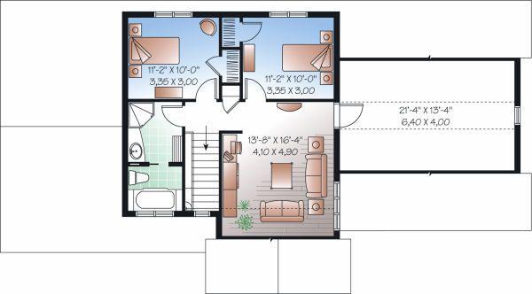 Country Floor Plan - Upper Floor Plan Plan #23-726