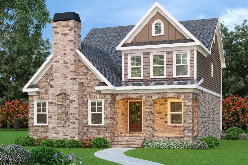Dream House Plan - Traditional Exterior - Front Elevation Plan #419-214