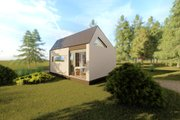 Modern Style House Plan - 1 Beds 1 Baths 311 Sq/Ft Plan #549-31 Exterior - Rear Elevation