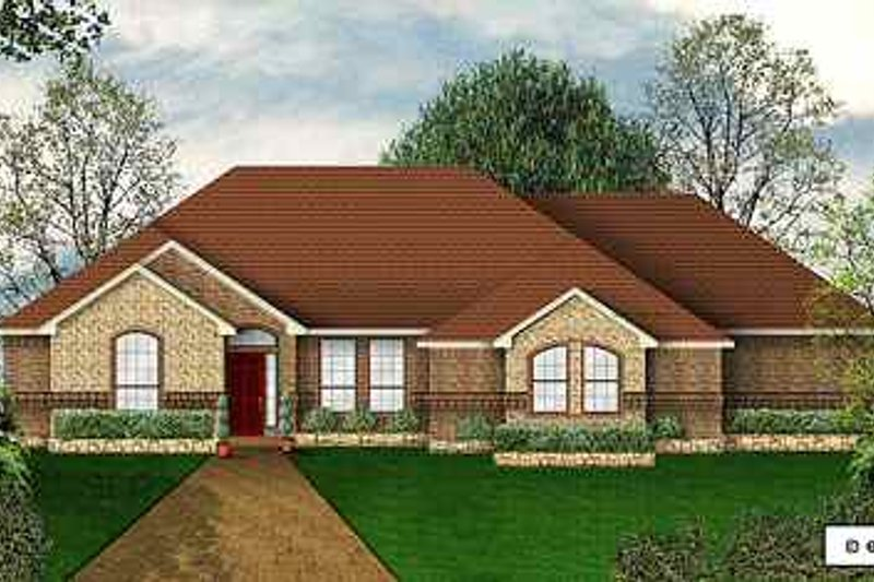 Traditional Exterior - Front Elevation Plan #84-141 - Houseplans.com