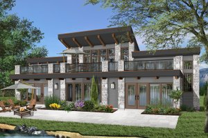 Beach Exterior - Front Elevation Plan #23-1031