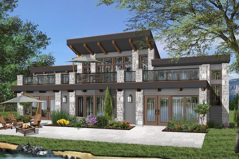 Architectural House Design - Beach Exterior - Front Elevation Plan #23-1031
