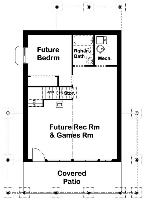 Architectural House Design - Country Floor Plan - Lower Floor Plan #126-235