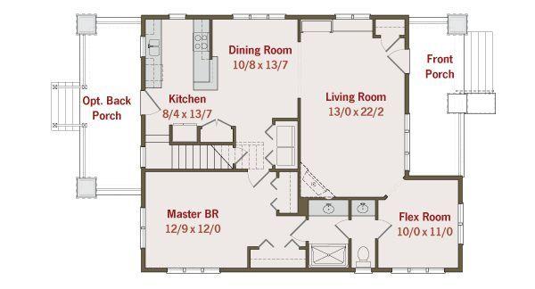 Craftsman Floor Plan - Main Floor Plan Plan #461-31