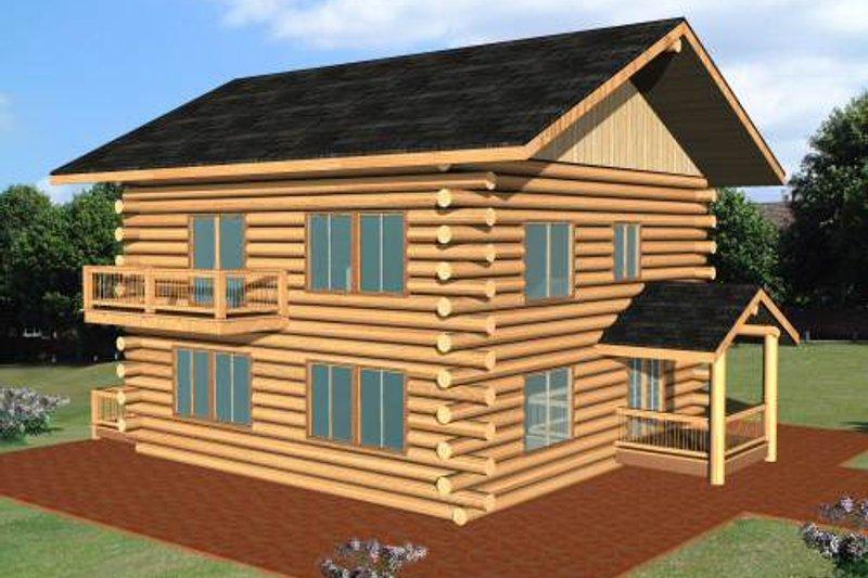 Log Exterior - Front Elevation Plan #117-552