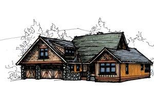 Craftsman Exterior - Front Elevation Plan #921-21