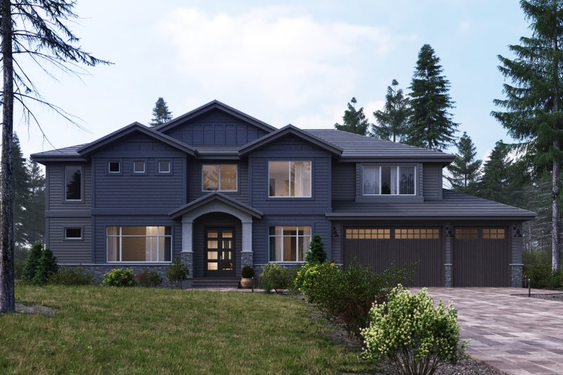 Architectural House Design - Craftsman Exterior - Front Elevation Plan #1066-20