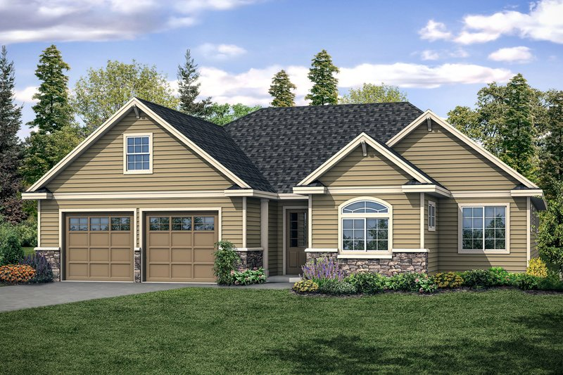 House Plan Design - Traditional Exterior - Front Elevation Plan #124-1117