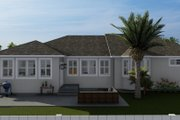 Traditional Style House Plan - 3 Beds 2 Baths 1644 Sq/Ft Plan #1060-56 Exterior - Rear Elevation