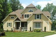 Craftsman Style House Plan - 4 Beds 3 Baths 3126 Sq/Ft Plan #413-101 Exterior - Front Elevation