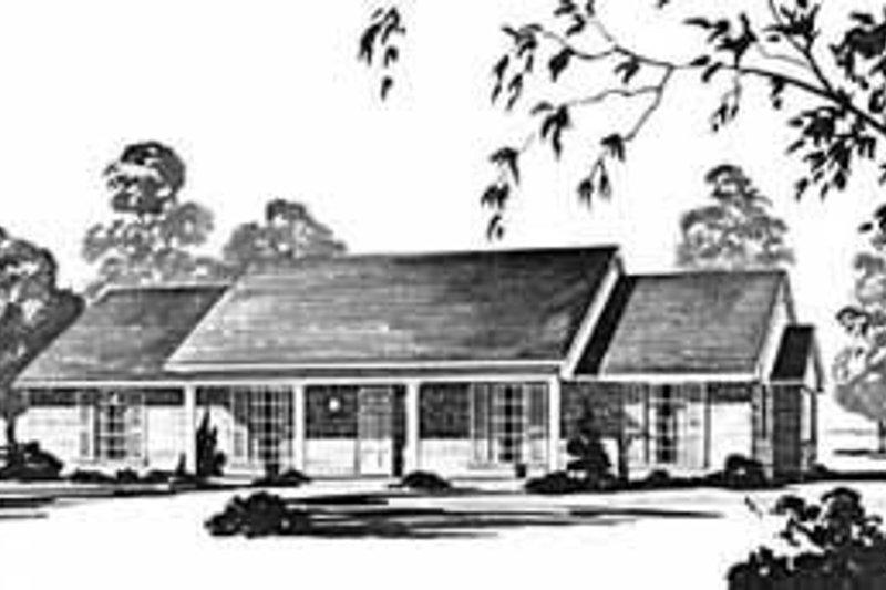 Ranch Exterior - Front Elevation Plan #36-378 - Houseplans.com