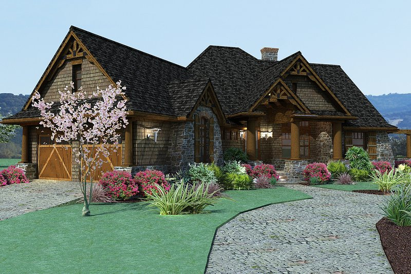 Craftsman Exterior - Front Elevation Plan #120-171 - Houseplans.com