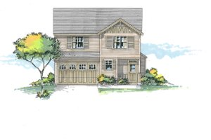 Architectural House Design - Craftsman Exterior - Front Elevation Plan #53-589