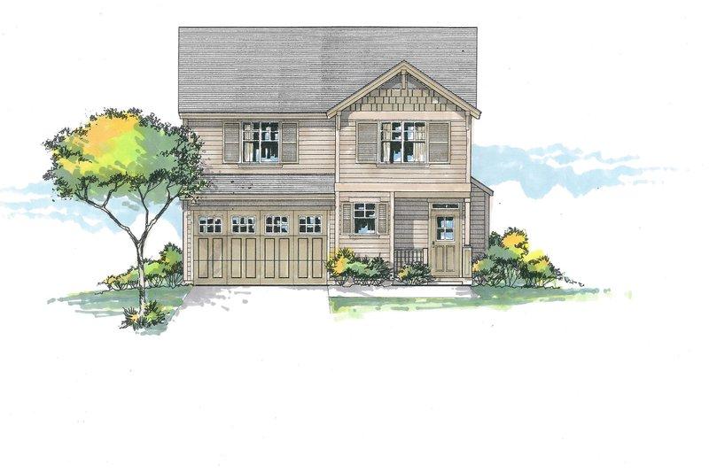 Architectural House Design - Craftsman Exterior - Front Elevation Plan #53-589
