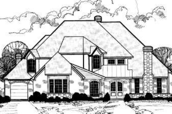 European Exterior - Front Elevation Plan #317-111