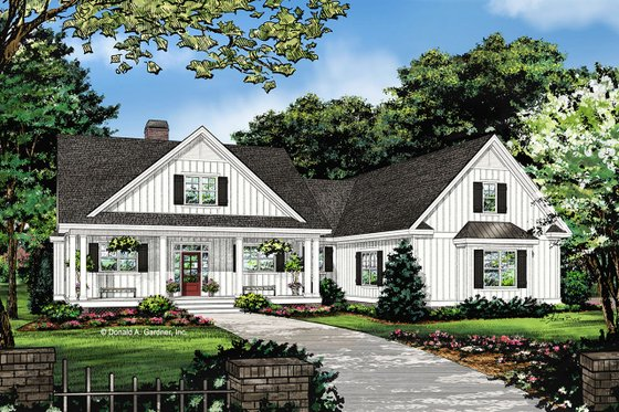 Farmhouse Exterior - Front Elevation Plan #929-1053