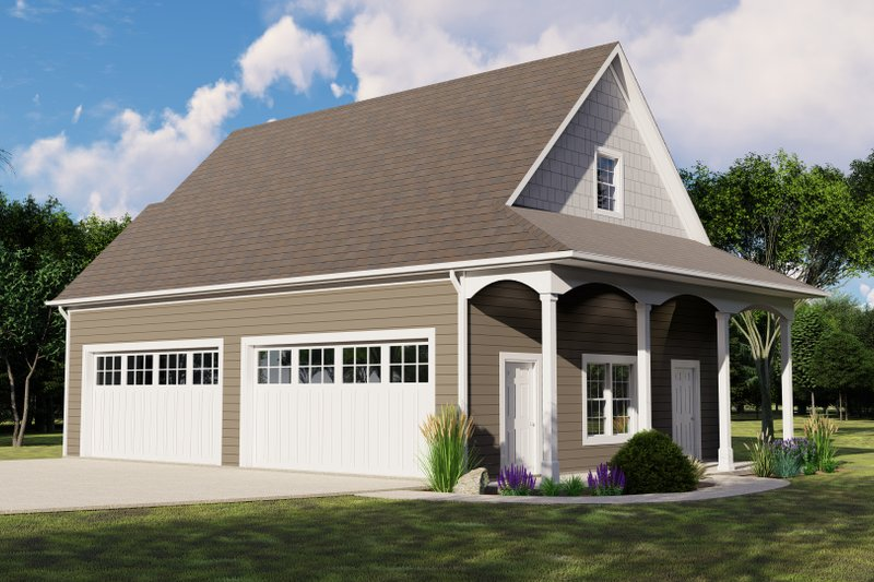 Dream House Plan - Country Exterior - Front Elevation Plan #1064-77
