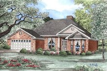 House Plan Design - Traditional Exterior - Front Elevation Plan #17-166