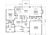 Traditional Style House Plan - 3 Beds 2.5 Baths 2351 Sq/Ft Plan #419-134 Floor Plan - Main Floor