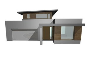 Modern Exterior - Front Elevation Plan #496-8