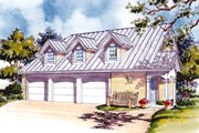 Country Style House Plan - 1 Beds 1 Baths 770 Sq/Ft Plan #930-84 Exterior - Front Elevation