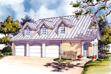 Country Exterior - Front Elevation Plan #930-84