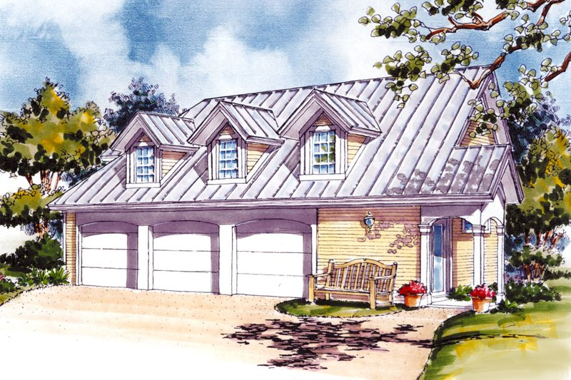 Architectural House Design - Country Exterior - Front Elevation Plan #930-84