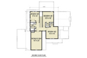 Craftsman Style House Plan - 4 Beds 2.5 Baths 2521 Sq/Ft Plan #1070-35 Floor Plan - Upper Floor Plan