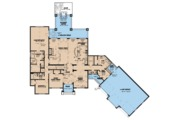 European Style House Plan - 4 Beds 3.5 Baths 3119 Sq/Ft Plan #923-66 Floor Plan - Main Floor