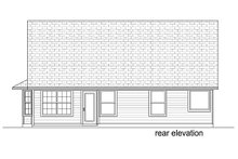 Craftsman Exterior - Rear Elevation Plan #84-451