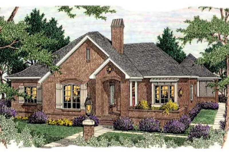 European Exterior - Front Elevation Plan #406-289