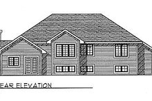 House Design - Traditional Exterior - Rear Elevation Plan #70-231