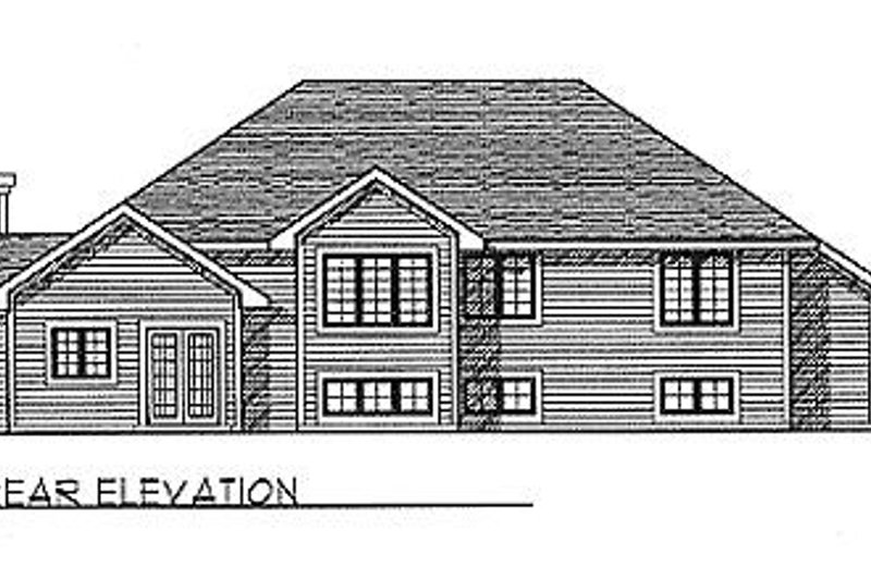 Traditional Exterior - Rear Elevation Plan #70-231 - Houseplans.com