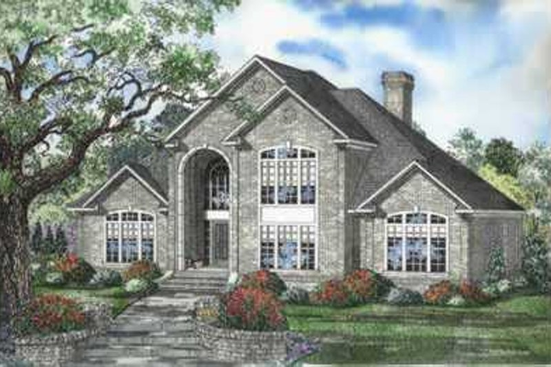 House Plan Design - European Exterior - Front Elevation Plan #17-529