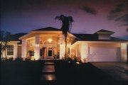 Mediterranean Style House Plan - 4 Beds 2 Baths 2041 Sq/Ft Plan #417-185 Photo