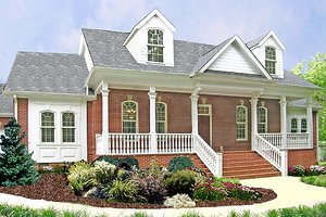 Southern Exterior - Front Elevation Plan #456-13