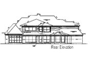 Traditional Style House Plan - 5 Beds 4.5 Baths 5000 Sq/Ft Plan #411-814 Exterior - Rear Elevation
