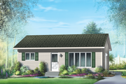 Classical Style House Plan - 2 Beds 1 Baths 768 Sq/Ft Plan #25-4303 Exterior - Front Elevation