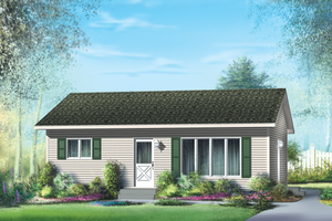 Classical Exterior - Front Elevation Plan #25-4303
