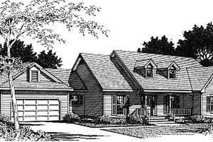 Colonial Exterior - Front Elevation Plan #14-103
